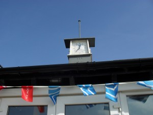 Clock on roof of main clubhouse