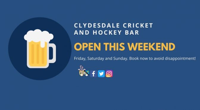 Clubhouse bar and Beer Garden now open